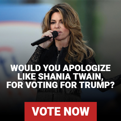 Shania Twain just apologized for saying she would have voted for Trump, would you apologize for voting Trump?